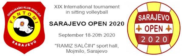 Традиционный XIX Международный турнир по волейболу сидя среди мужских команд «Sarajevo Open 2020» перенесен на период с 18 по 20 сентября 2020 года