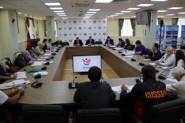 Руководители ПКР в зале Исполкома ПКР приняли участие в заседании Совета Всероссийской федерации спорта лиц с поражением опорно-двигательного аппарата