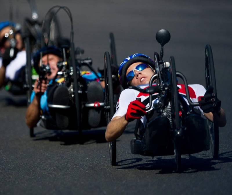 Российские спортсмены с ПОДА и нарушением зрения в Швейцарии принимают участие в чемпионате мира по велоспорту на шоссе