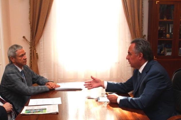 В Министерстве спорта Российской Федерации состоялась рабочая встреча П.А. Рожкова с Министром спорта Российской Федерации В.Л. Мутко