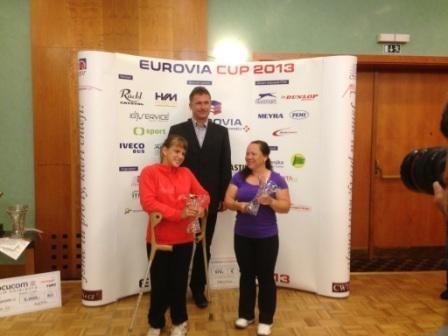 Российская спортсменка Виктория Львова стала  победителем  международного турнира  Eurovia Cup 2013 года (Брно,Чехия) по теннису на  колясках