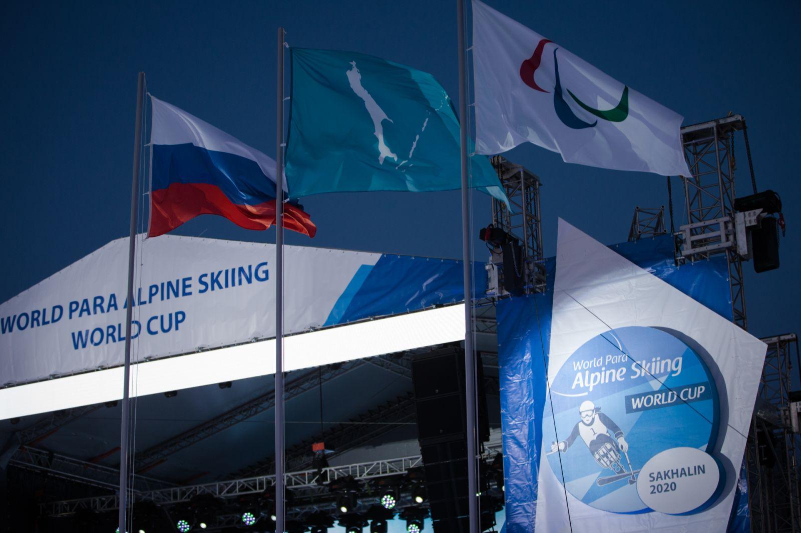 А.А. Строкин в г. Южно-Сахалинске принял участие в церемонии открытия 4-го этапа Кубка мира по горнолыжному спорту МПК