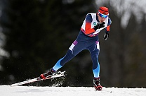 Russian Paralympic athletes A. Karachurin won gold medal in biathlon ( 12.5 km)