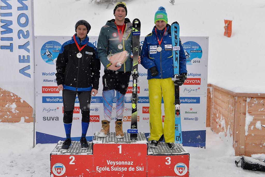 Алексей Бугаев завоевал серебряную медаль в заключительный день 5-го этапа Кубка мира по горнолыжному спорту лиц с ПОДА в Швейцарии