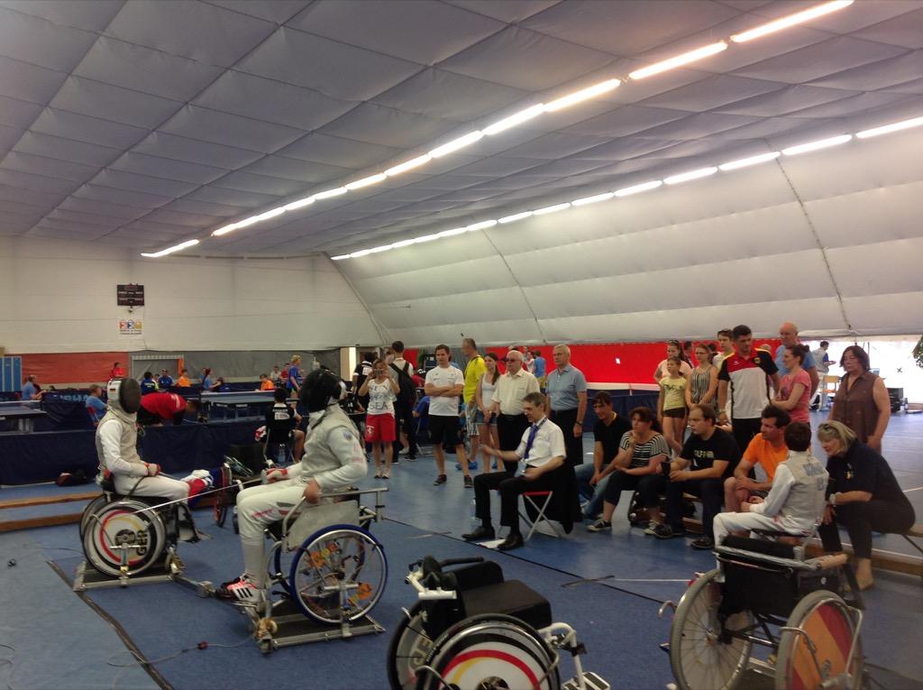 В.П. Лукин, П.А. Рожков в г. Праге (Чехия) приняли участие в просмотре соревнований Всемирных молодежных игр IWAS
