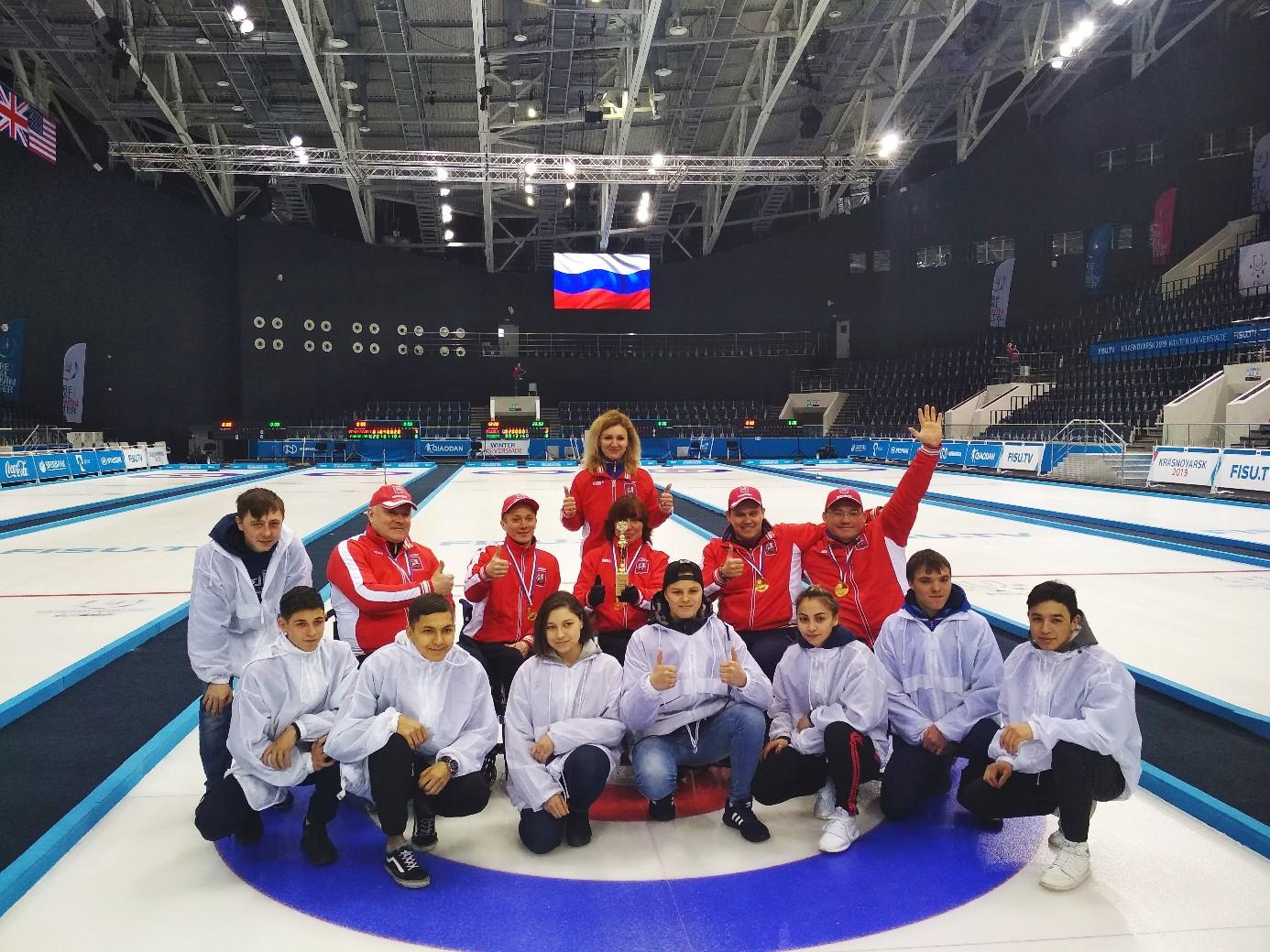 Сборная команда города Москвы по керлингу на колясках вновь завоевала титул чемпионов России в Красноярске