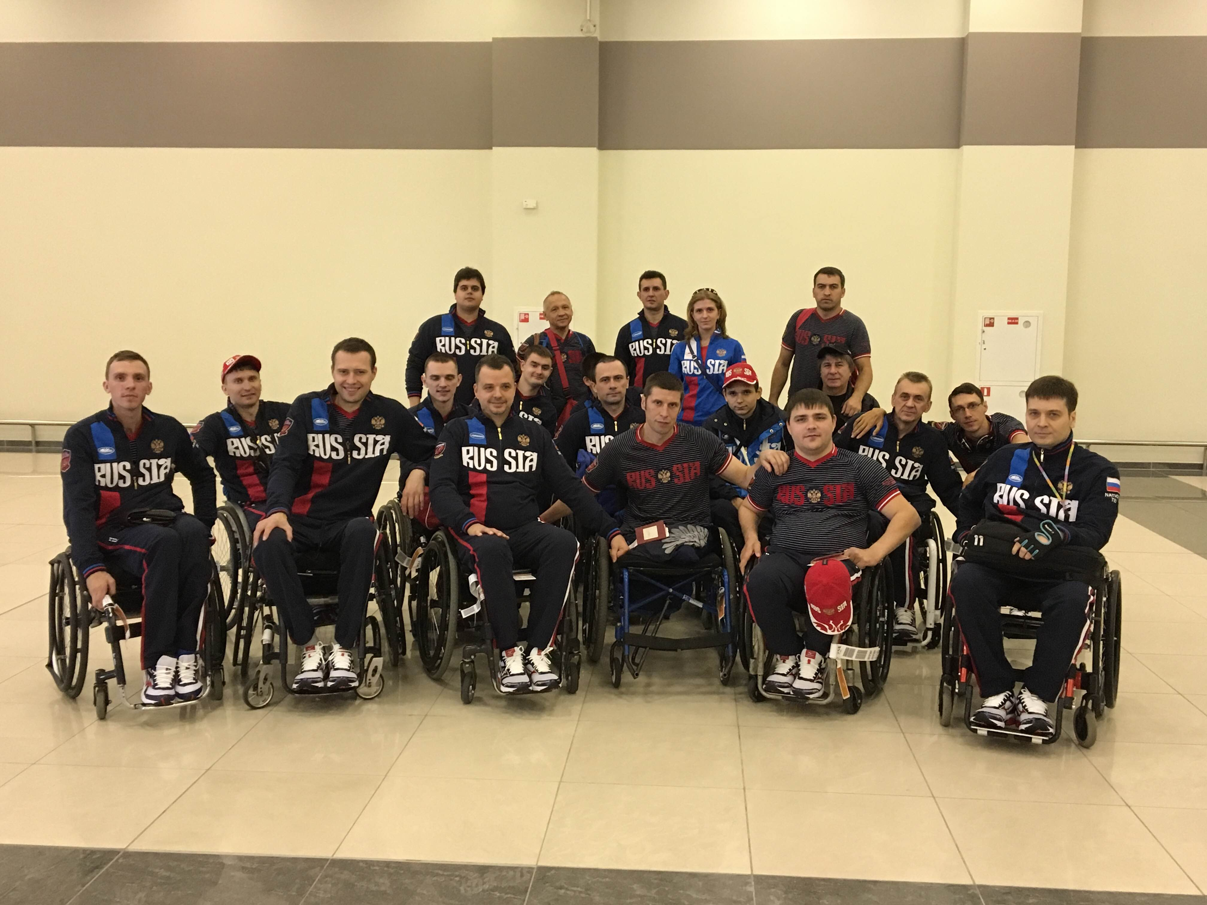 Сборная команда России по регби на колясках вылетела в Италию для участия в чемпионате Европы в группе С