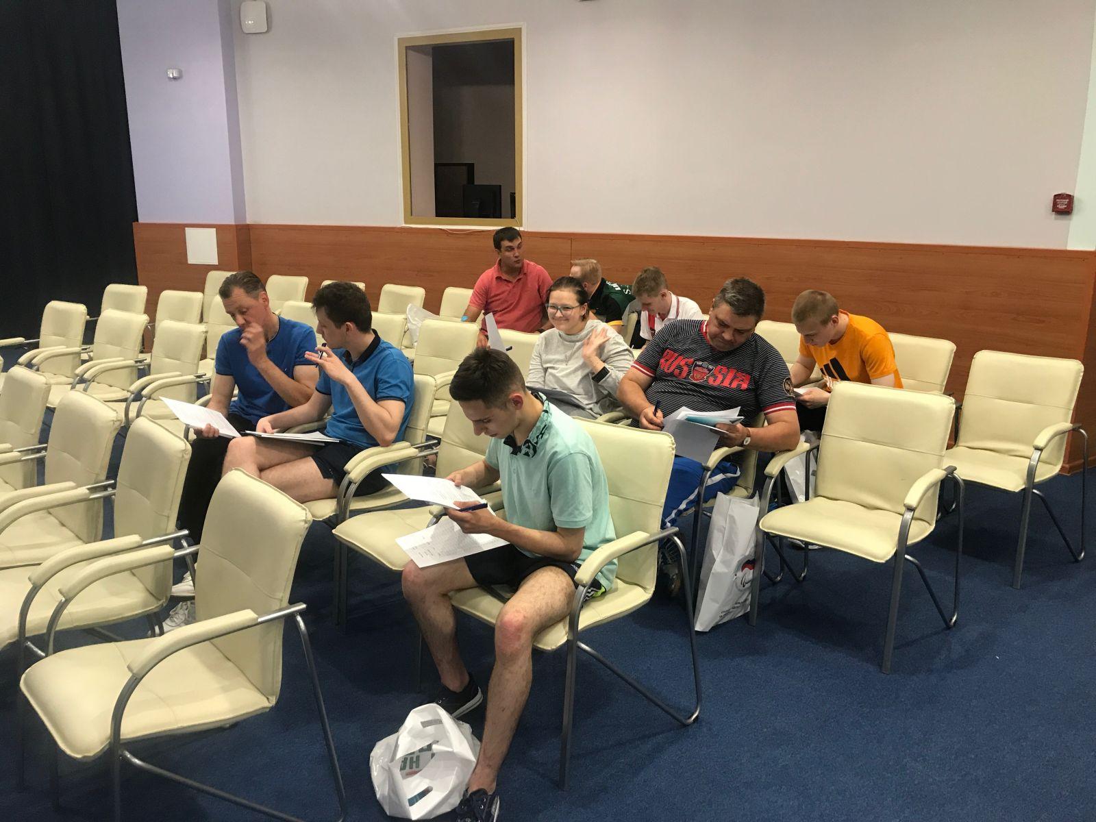 ПКР в г. Алексине (Тульская область) на РУТБ «ОКА» провел Антидопинговые семинары для членов сборных команд России по волейболу сидя, стрельбе из лука и настольному теннису спорта лиц с ПОДА