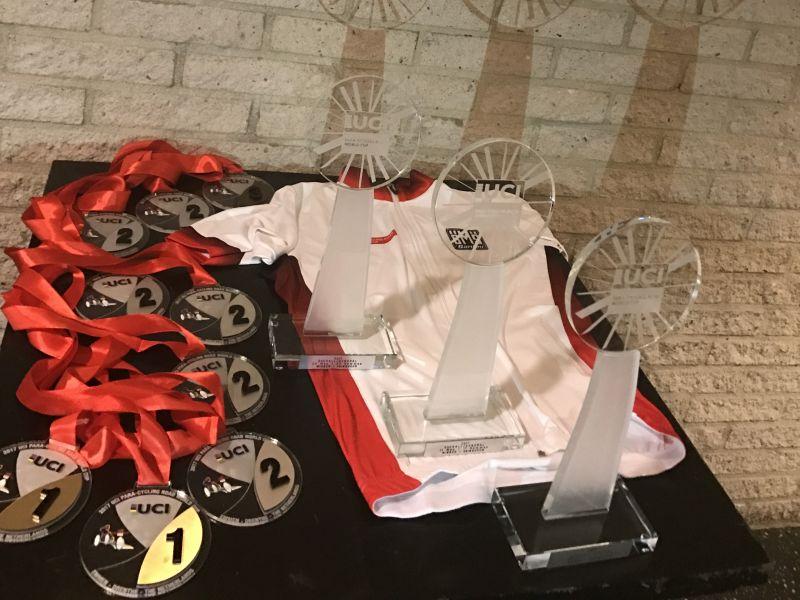 Российские велосипедисты Юлия Сибагатова, Сергей Семочкин и Арслан Гильмутдинов стали обладателями Кубка мира по велоспорту среди лиц с ПОДА