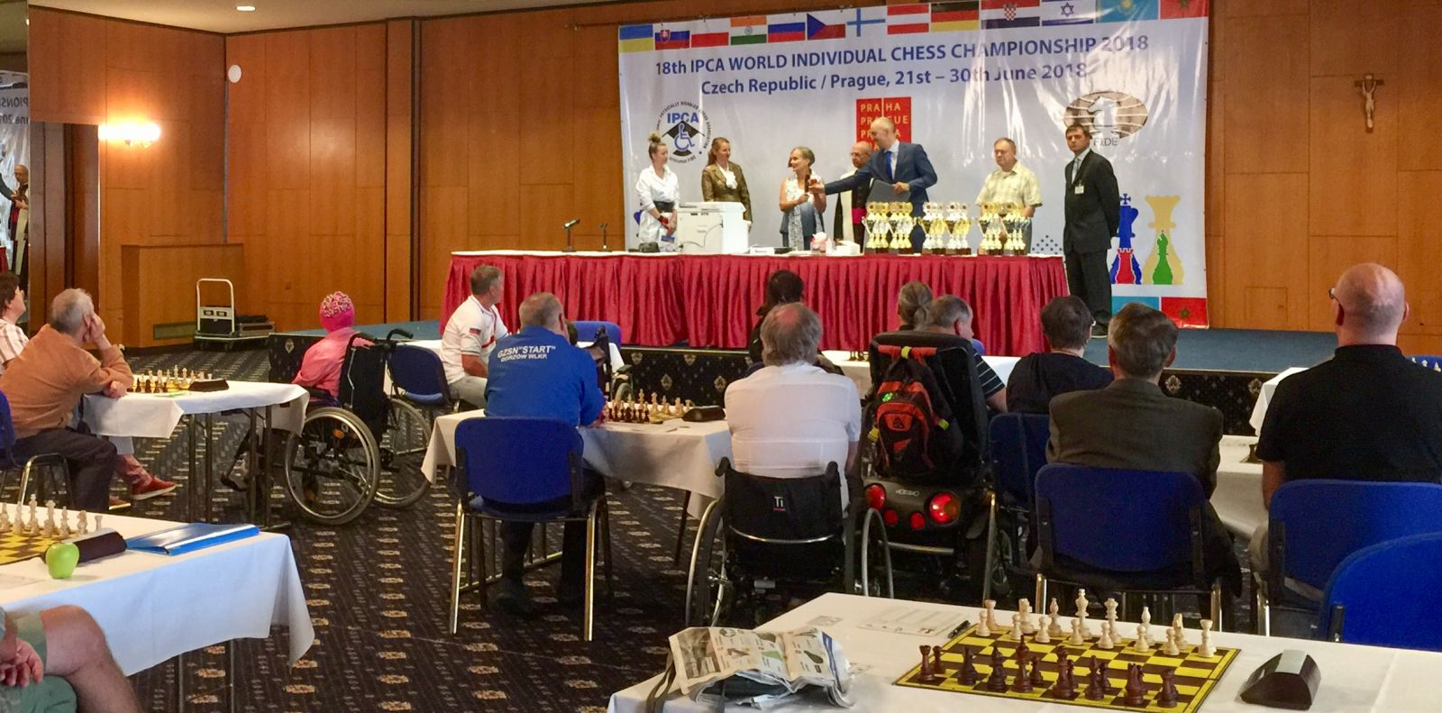 Сборная команда России по шахматам спорта лиц с ПОДА завоевала 8 медалей на чемпионате мира в Чехии