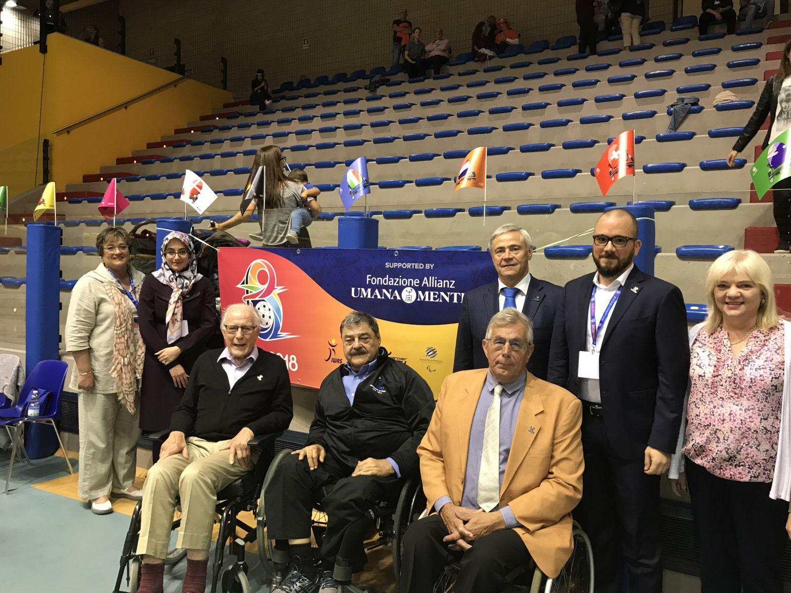 П.А. Рожков и члены Исполкома IWAS приняли участие в церемонии открытия и просмотре соревнований чемпионата мира по хоккею на электрических колясках, проводимых под эгидой IWAS