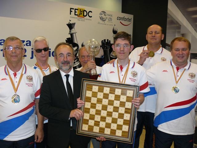 Сборная команда России по шахматам спорта слепых заняла первое общекомандное место на чемпионате мира