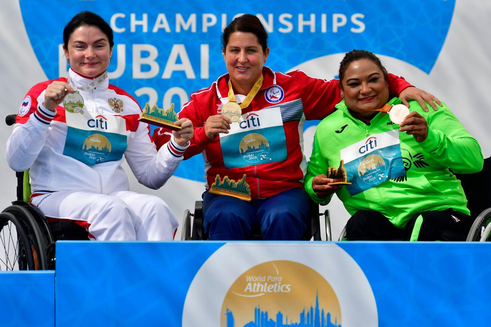 Галина Липатникова и Мария Богачева завоевали серебряные медали в 6 день чемпионата мира по легкой атлетике МПК в Дубае