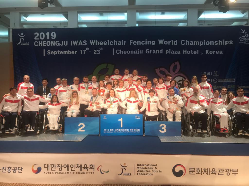 2 золотые, 3 серебряные и 5 бронзовых медалей завоевала сборная команда России по фехтованию на колясках по итогу 4-х дней чемпионата мира в Корее