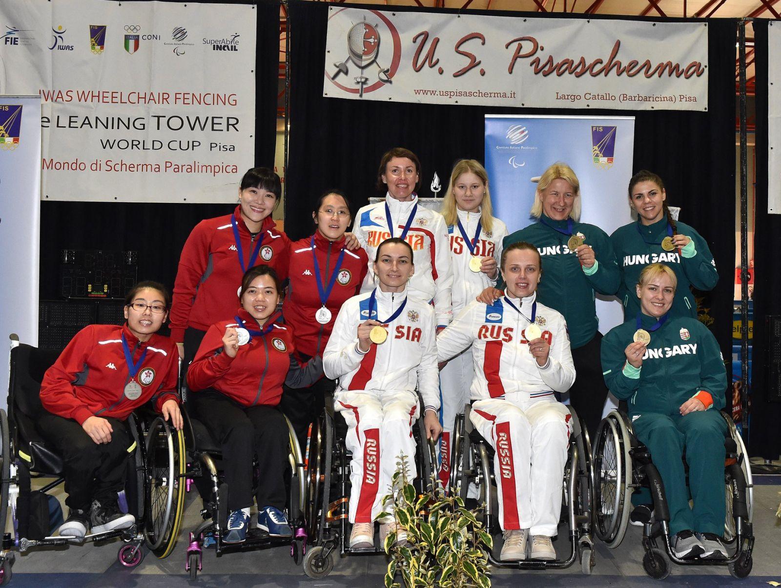 Сборная команда России по фехтованию на колясках завоевала 2 золотые, 2 серебряные и 7 бронзовых медалей на этапе Кубка мира по фехтованию на колясках в Италии