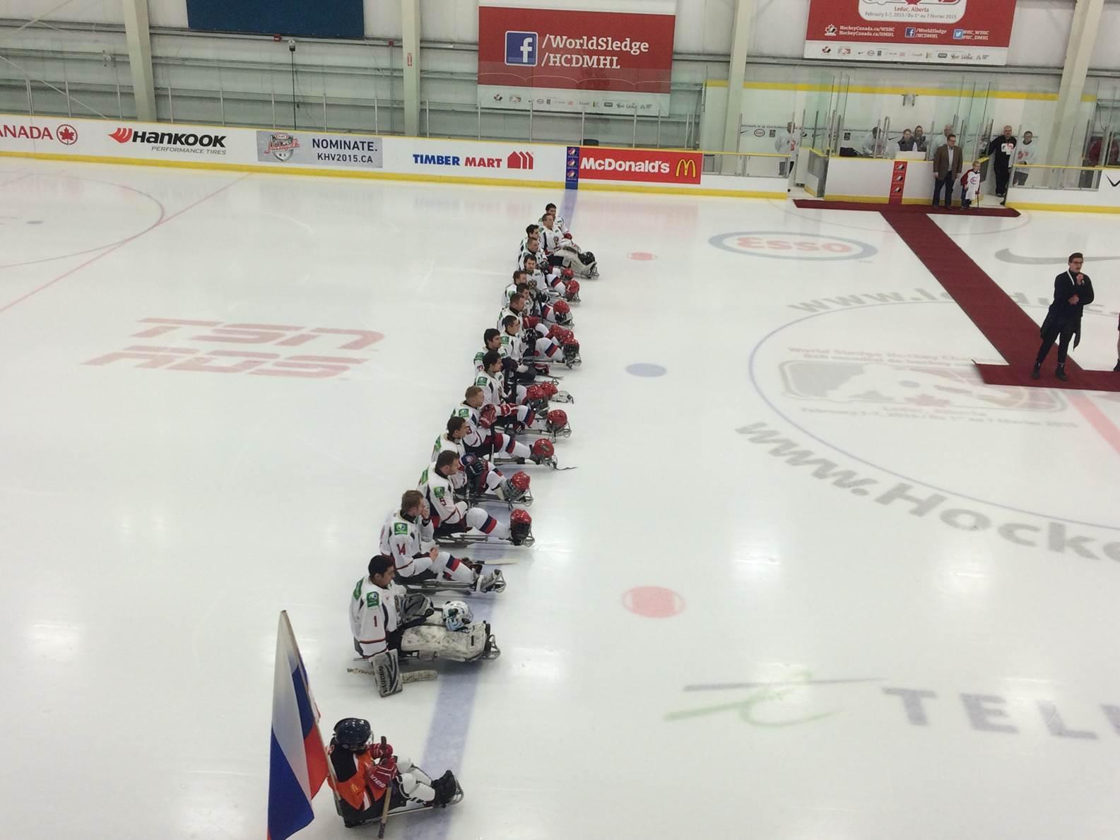 Сборная команда России по хоккею-следж принимает участие в стартовавшем в Канаде международном турнире