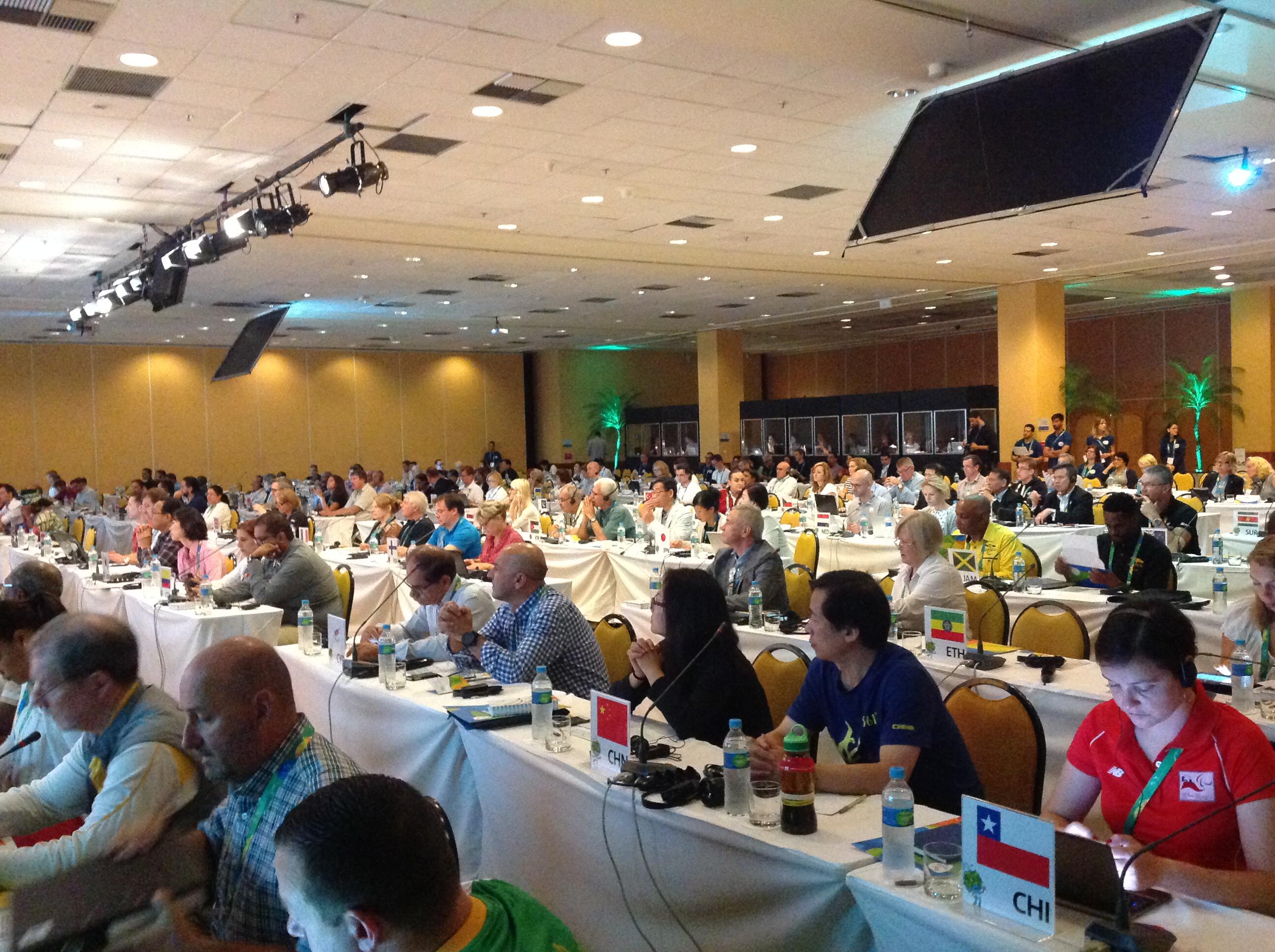 П.А. Рожков в г. Рио-де-Жанейро принял участие в пленарном заседании Шефов миссии национальных сборных команд на Паралимпийских играх 2016 года