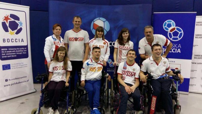 Российские спортсмены одержали три победы на крупном международном турнире по бочча в Польше