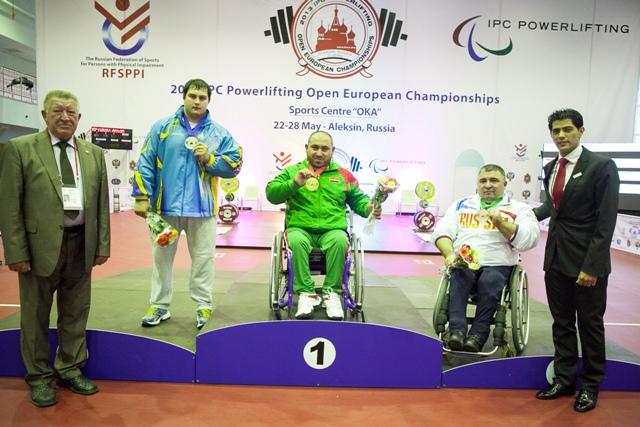 В четвертый соревновательный день Открытого чемпионата и первенства Европы по пауэрлифтингу среди спортсменов с поражением опорно-двигательного аппарата российские спортсмены (мужчины, женщины) завоевали 2 золотых, 1 серебряную и 1 бронзовую медали