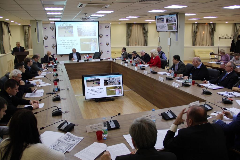 В.П. Лукин в зале Исполкома Дома паралимпийского спорта провел заседание Исполкома ПКР