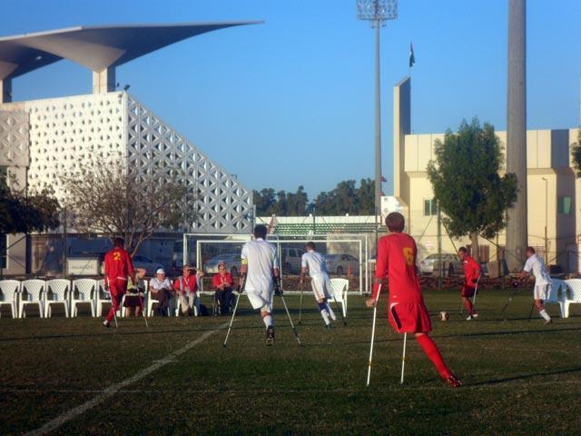 В г. Шарджа состоялась демонстрационная игра по футболу ампутантов между сборными командами России и Великобритании