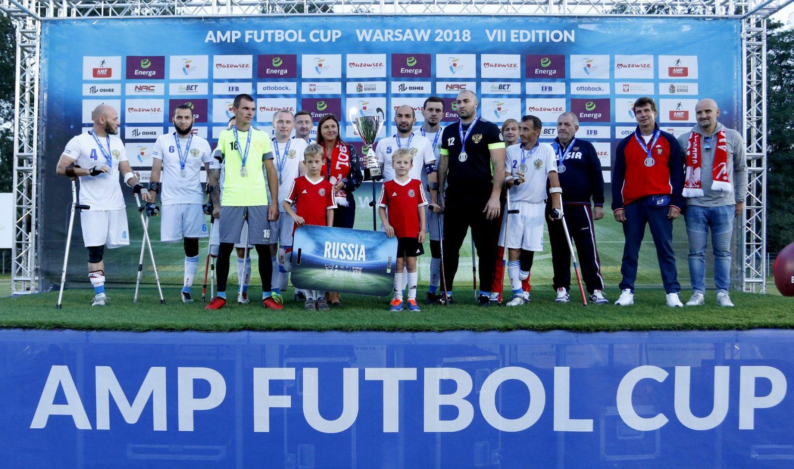 Сборная команда России по футболу ампутантов заняла 2 место на Кубке мира в Польше