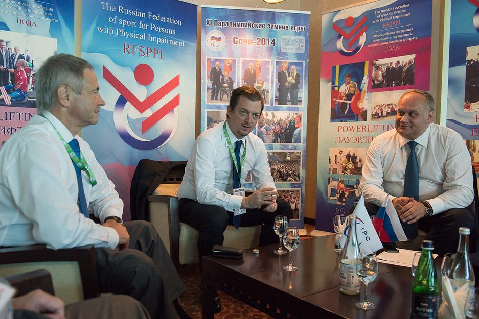 Руководители Минспорта РФ и ПКР в г. Сочи обсудили перспективы сотрудничества с вице-президентом МПК,  президентом Паралимпийского комитета Бразилии Эндрю Парсонсом