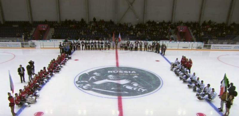 Р.А. Баталова, Л.Н. Селезнев приняли участие в церемонии открытия Традиционного международного турнира – Кубок континента по хоккею-следж