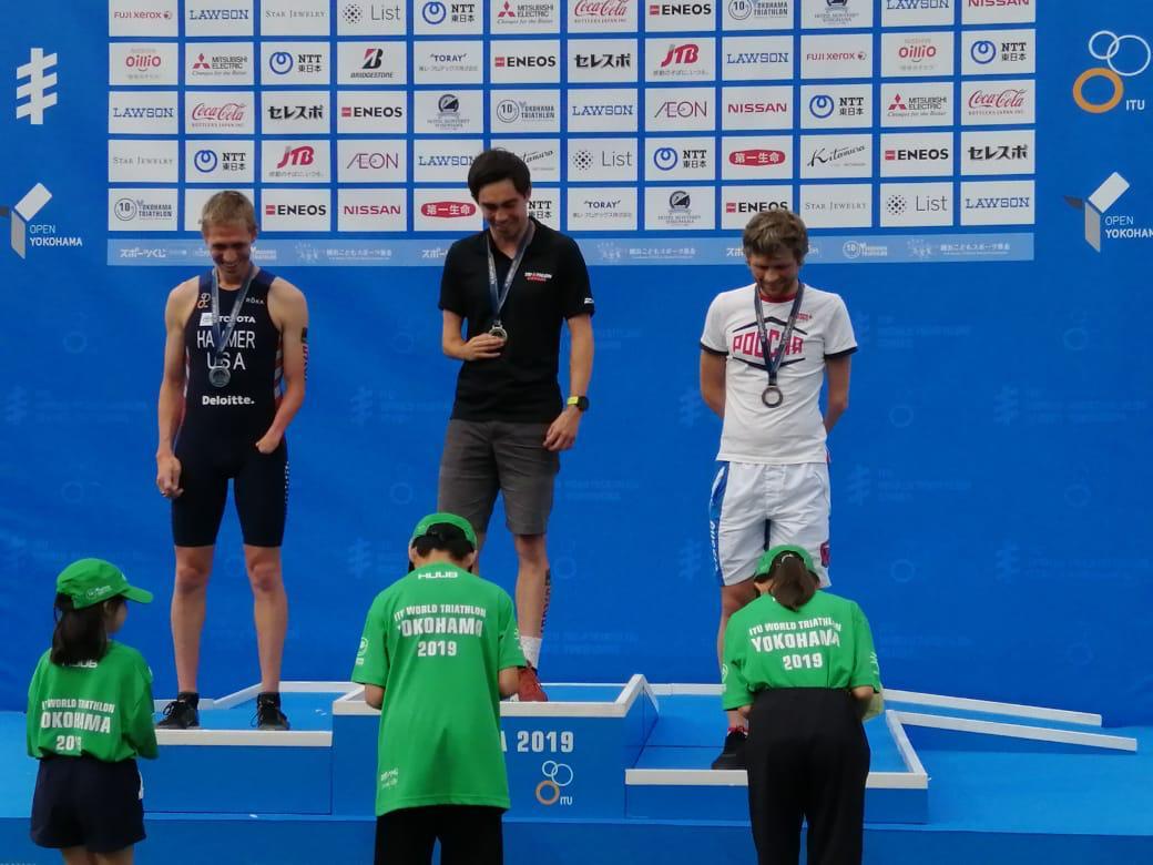 Сборная России по паратриатлону завоевала золотую, 2 серебряные и бронзовую награды на международных соревнованиях в Японии
