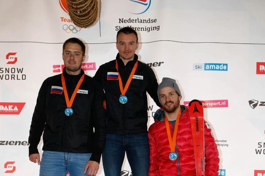 Сборная команда России выиграла медальный зачет 1 этапа Кубка Европы по горнолыжному спорту лиц с ПОДА и нарушением зрения в Нидерландах