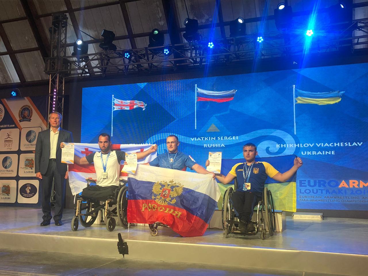 Российские спортсмены успешно выступили на чемпионате Европы по пара-армрестлингу в Греции