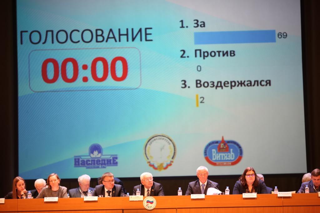 На Очередной отчетно-выборной Конференции ПКР избран новый руководящий состав Паралимпийского комитета России
