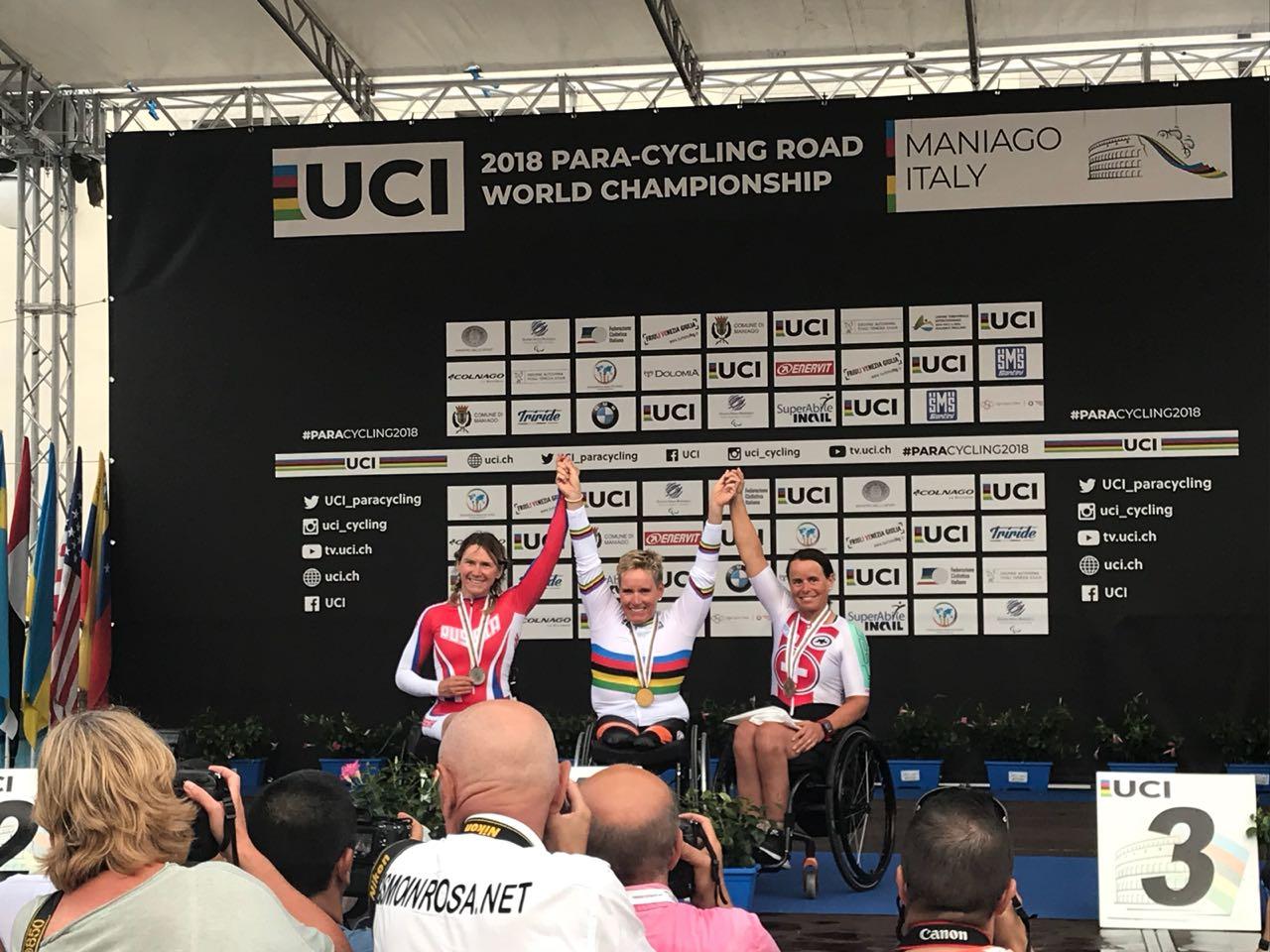 Светлана Мошкович завоевала серебряную медаль в первый день чемпионата мира по велоспорту среди лиц с ПОДА и нарушением зрения в Италии