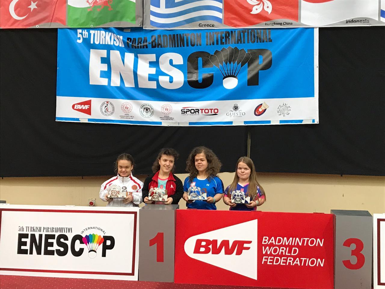 1 серебряную и 3 бронзовые медали завоевали российские парабадминтонисты на международных соревнованиях - 5th Turkish Para-Badminton International - ENESCUP 2019