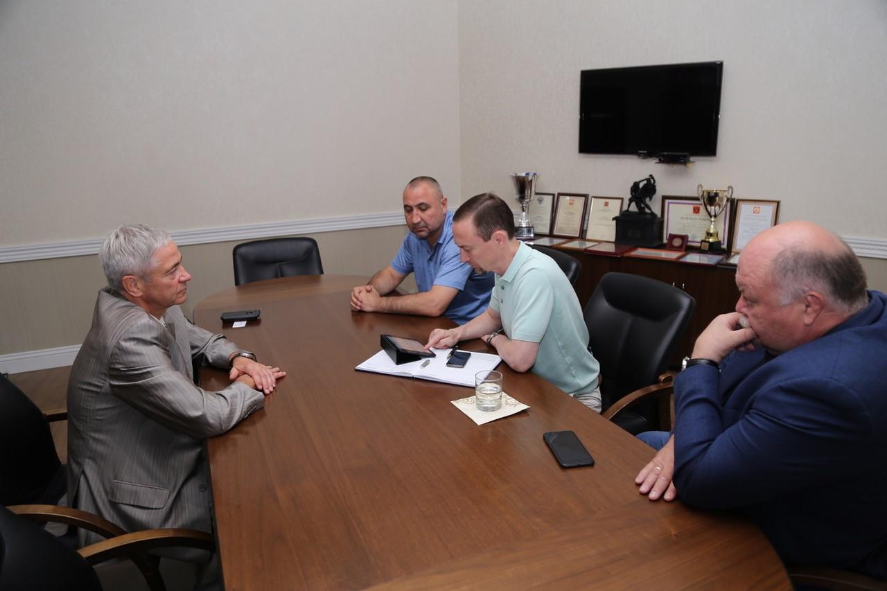 П.А. Рожков в офисе ПКР встретился с Министром физической культуры и спорта Ульяновской области Н.А. Шамсутдиновым