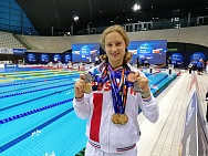 #trainingtogether with three time winner, two time silver and bronze medalist of the World championships 2019 in Para Swimming among II Athletes Valeriya Shabalina