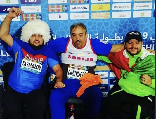 Представитель Республики Дагестан Муса Таймазов завоевал бронзовую медаль в четвертый день чемпионата мира по легкой атлетике МПК в Дубае