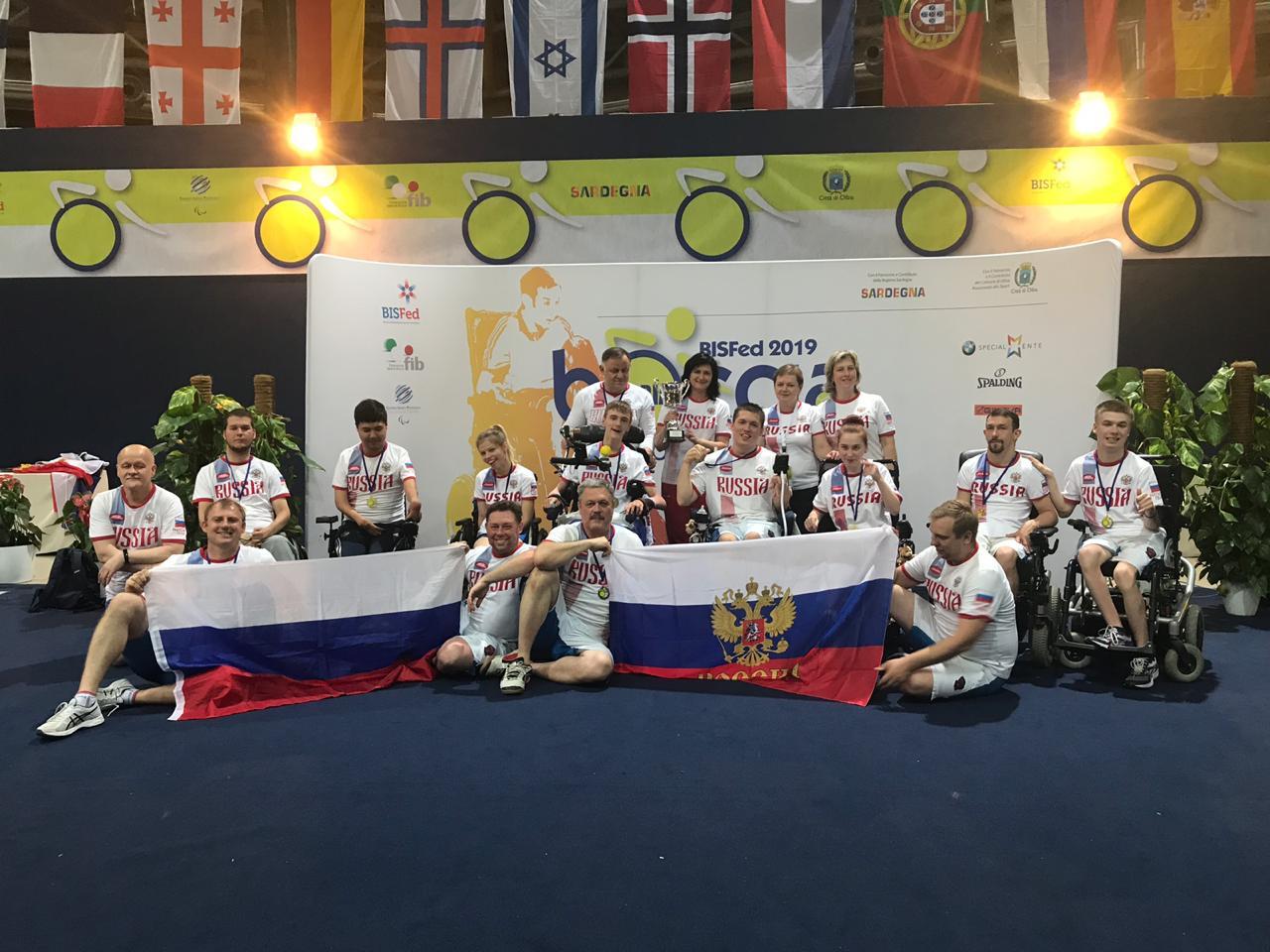 3 золотые и 1 бронзовую медали завоевала сборная команда России по бочча на международных соревнованиях в Италии