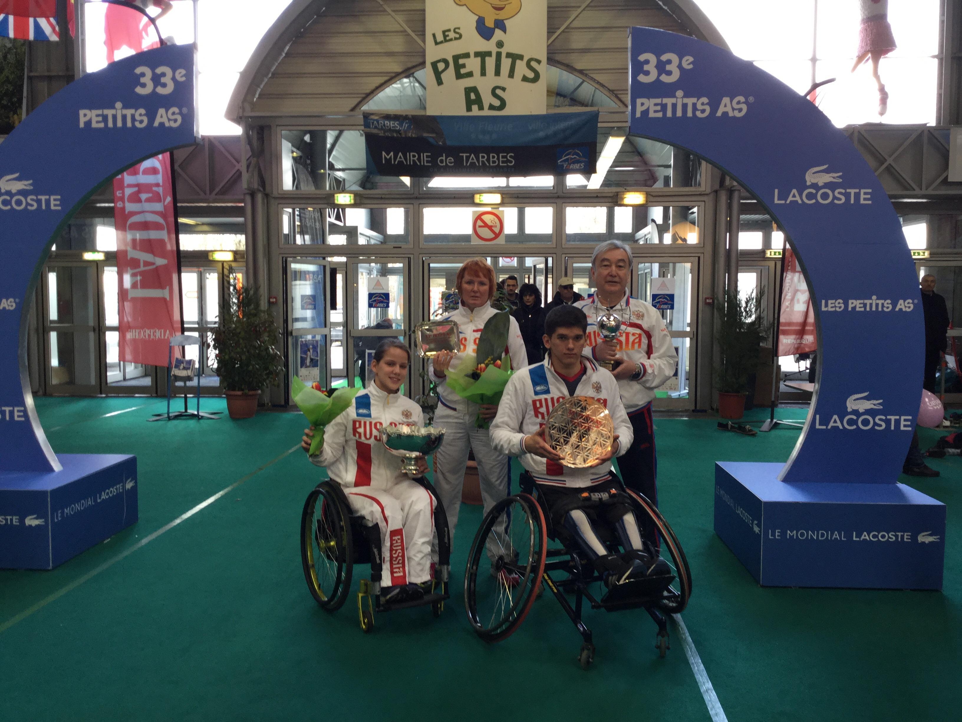 Виктория Львова завоевала первое место на юниорском турнире по теннису на колясках во Франции