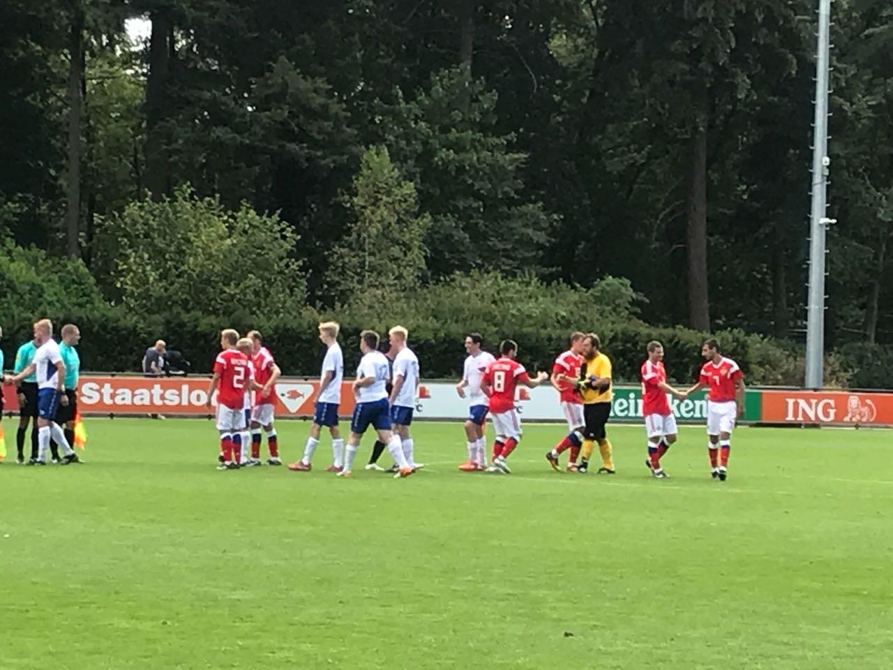 Сборная команда России выиграла у Финляндии со счетом 4-1 в заключительном матче группового этапа чемпионата Европы по футболу 7х7 спорта лиц с заболеванием ЦП в Нидерландах