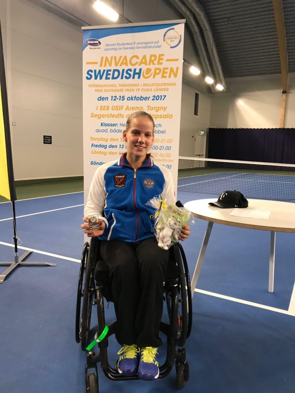 Россиянка Виктория Львова стала обладательницей двух серебряных наград на международных соревнованиях по теннису на колясках в Швеции