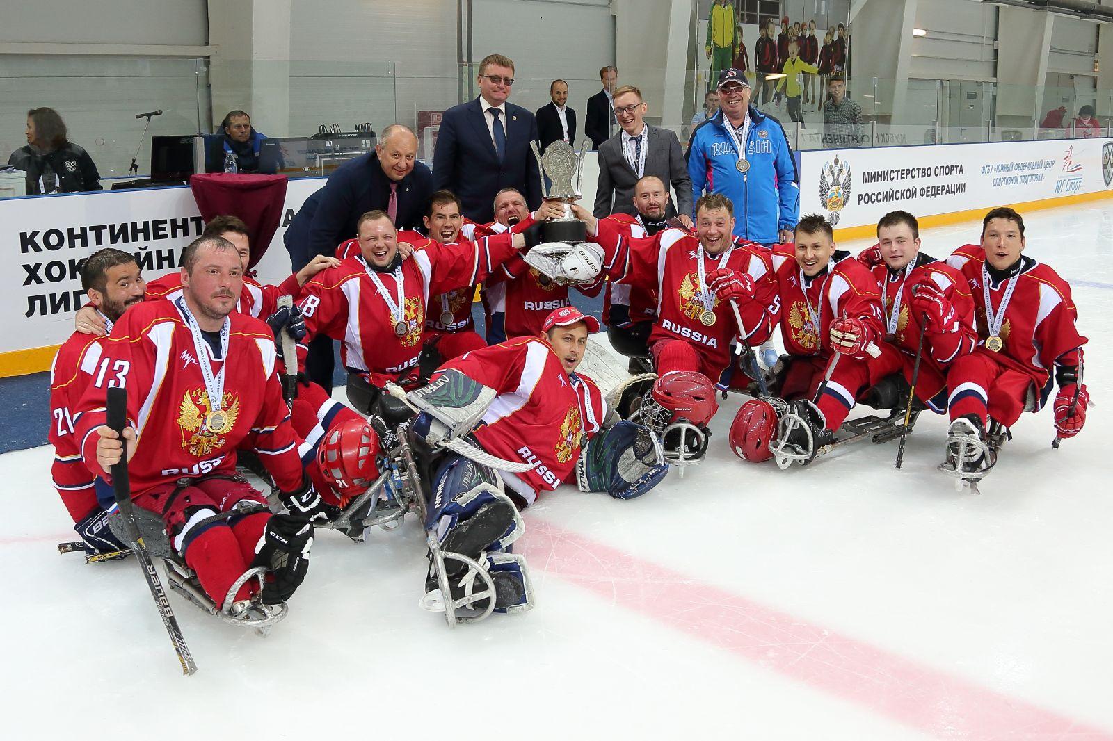 Команда Россия-1 стала обладателем Кубка континента по хоккею-следж 2019 года