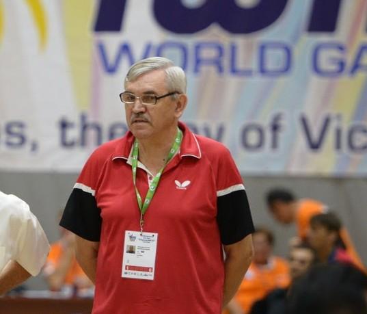 Старший тренер сборной команды России по настольному теннису В.Н. Вишняков: «Одна золотая и две серебряные медали – это примерно то, на что мы изначально рассчитывали на чемпионате мира по настольному теннису среди спортсменов с ПОДА и ИН»