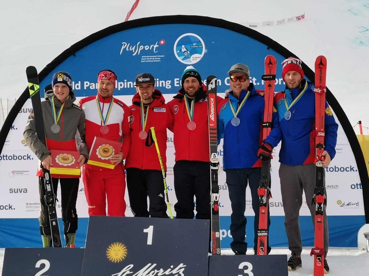 Сборная России по горнолыжному спорту слепых завоевала 1 золотую и 2 бронзовые медали на Кубке Европы в Швейцарии