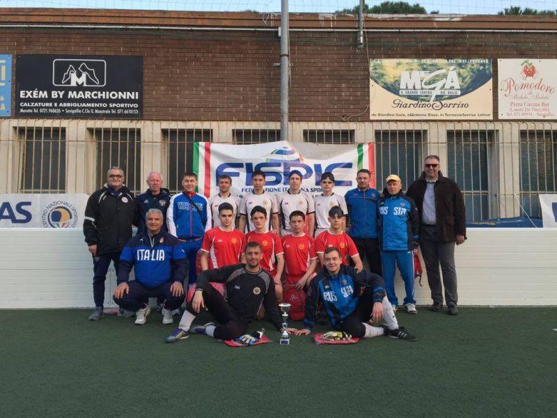 Сборная команда России по мини-футболу 5х5 (класс В1) стала победителем международного турнира в Италии