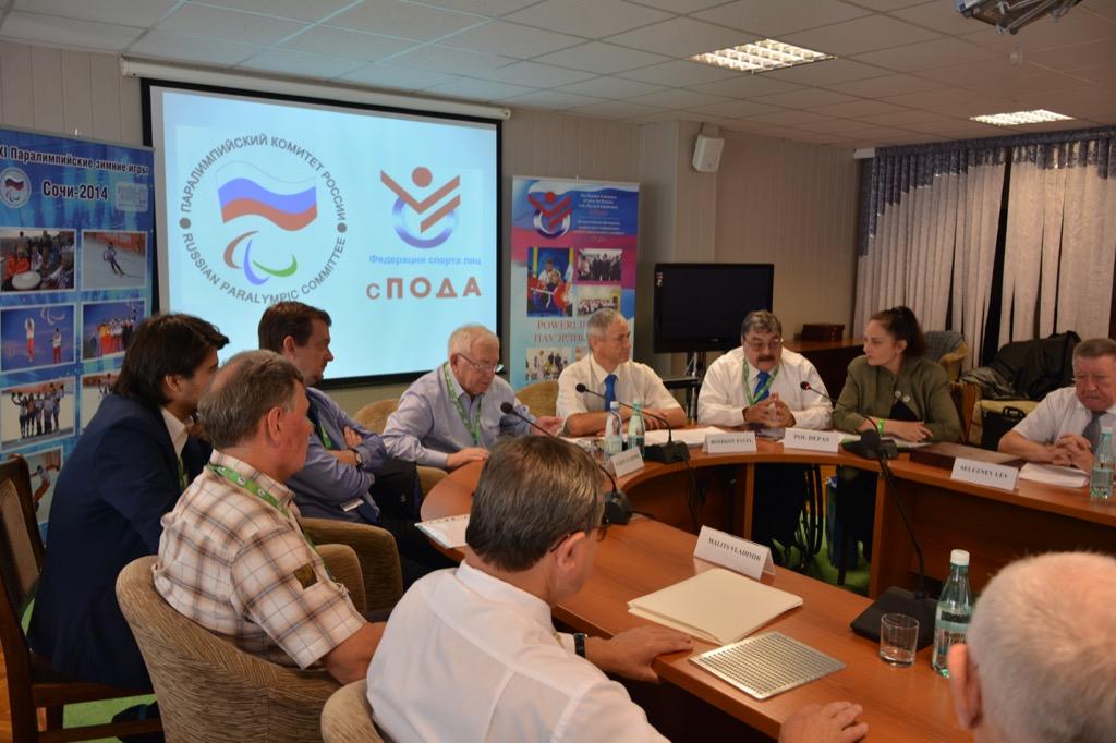 В г. Сочи состоялось совместное заседание Исполкома Паралимпийского комитета России и Всероссийской федерации спорта лиц с поражением опорно-двигательного аппарата