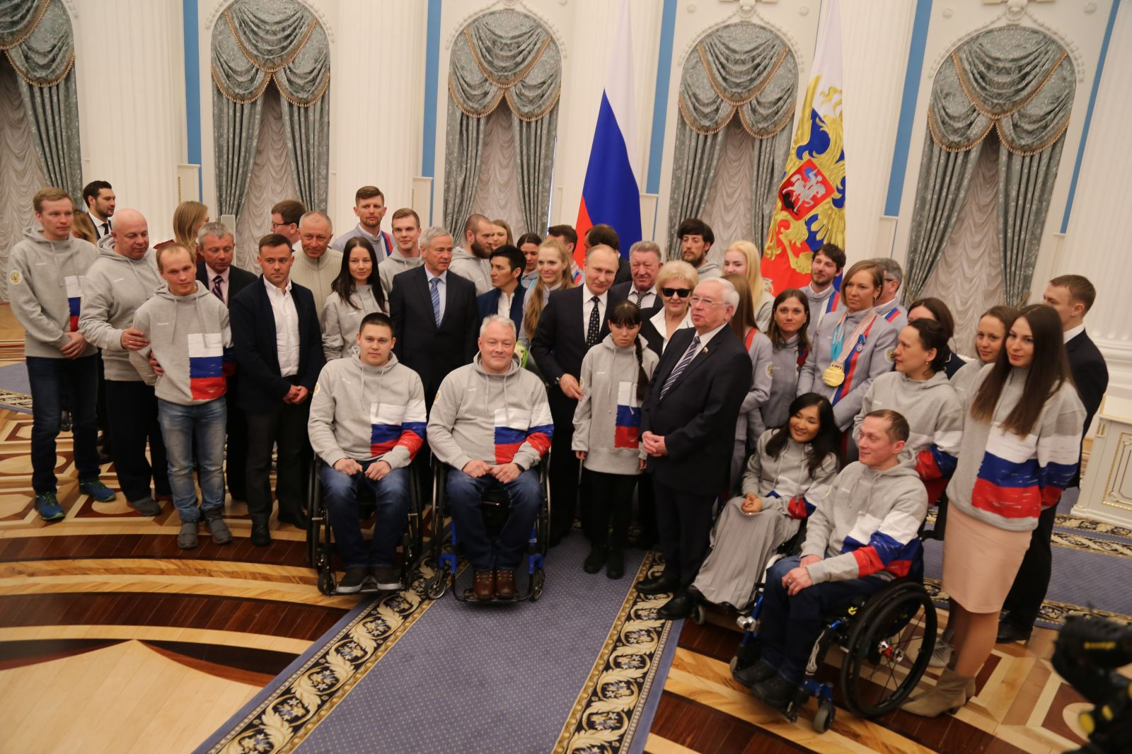 VLADIMIR PUTIN PRESENTED STATE WARDS TO RUSSIAN CAMPIONS AND MEDALISTS OF THE XII PARALYMPIC WINTER GAMES 2018 IN PYEONGCHANGE