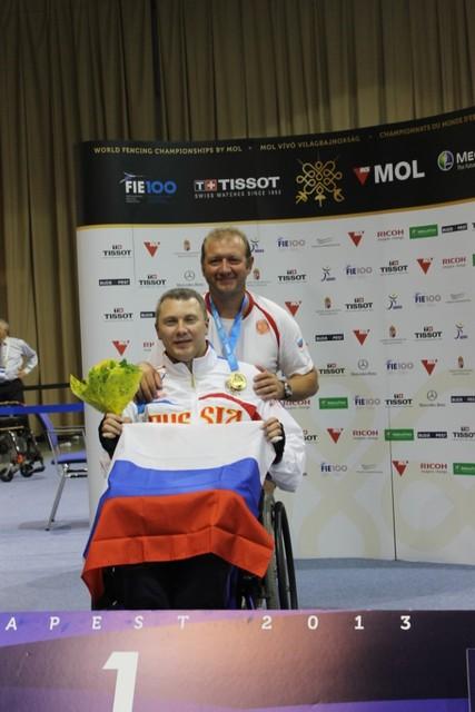 Во второй соревновательный день сборная команда России завоевала 2 золотые и 4 бронзовые награды на чемпионате мира по фехтованию на колясках в г. Будапеште (Венгрия)