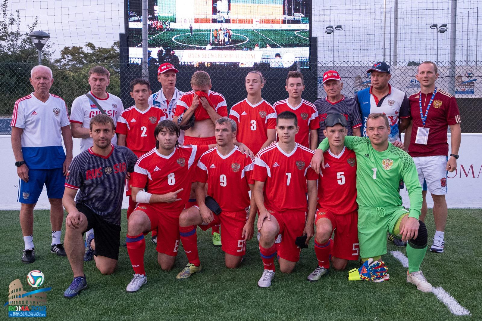Сборная команда России по мини-футболу 5х5 класс В1 (тотально-слепые спортсмены) заняла 5-е место на чемпионате Европы в Италии