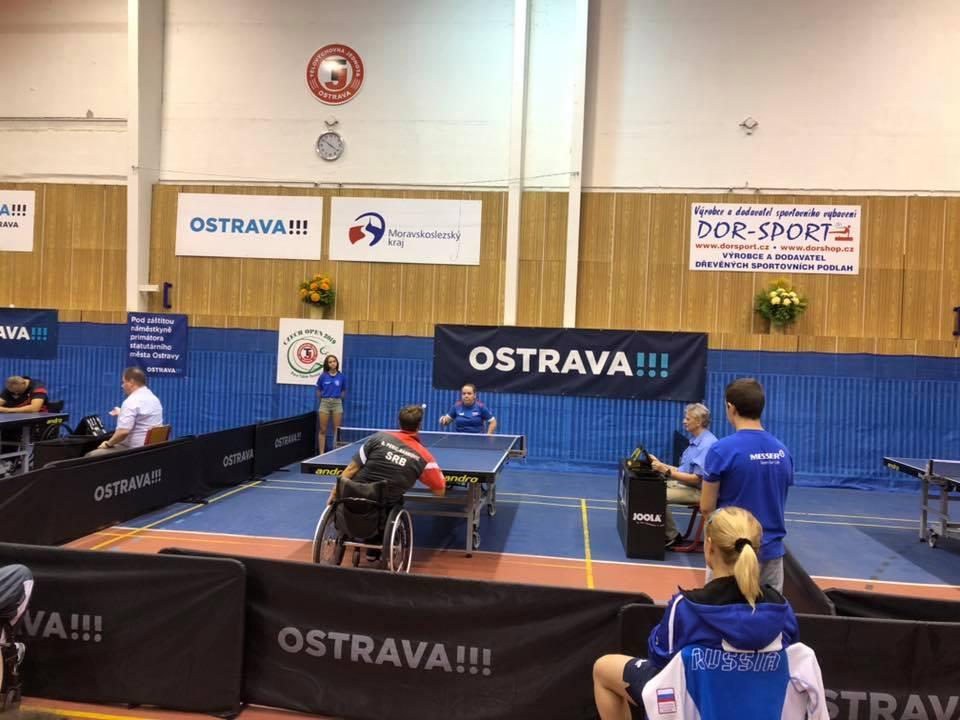 2 золотые, 3 серебряные и 8 бронзовых медалей завоевала сборная команда России по настольному теннису спорта лиц с ПОДА и ИН на международном турнире Czech Open